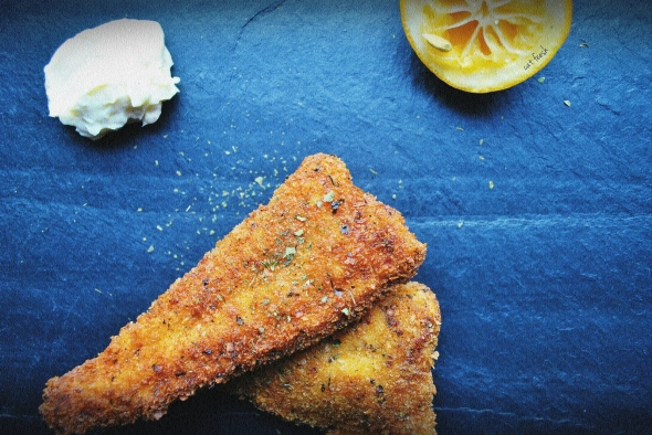 Panko-crusted fried catfish