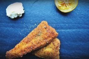 Panko-crusted fried catfish