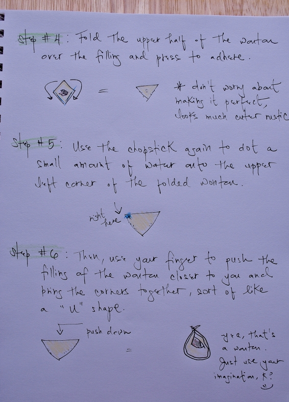 How to fold a wonton