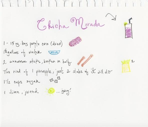 Chicha morada recipe