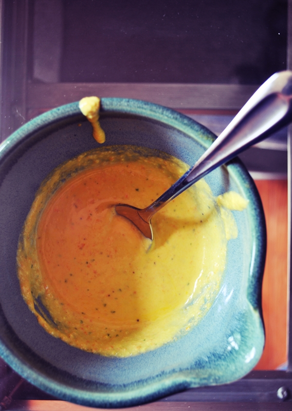 Spicy aji amarillo dipping sauce