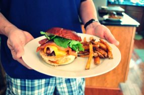 Jason's Ham Burger with Southwest Sauce + Hand-cut French Fries