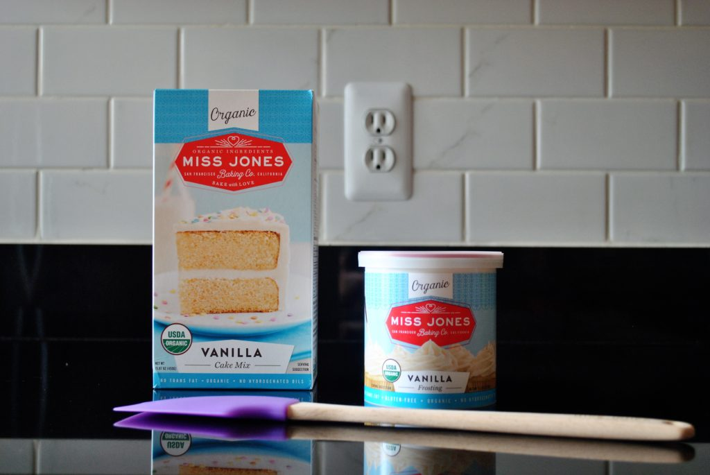 Miss Jones Baking Co. cake mix and frosting