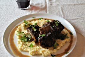 Braised Short Ribs with Chile and Coconut + Creamy Polenta